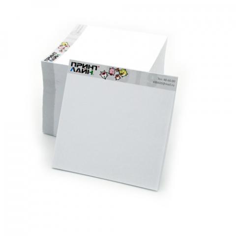 Блоки для записей с фирменной символикой (кубарики)